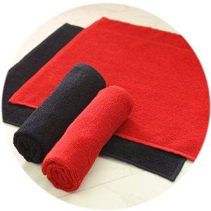 92匁レピア織業務用スレンカラーおしぼり赤・黒