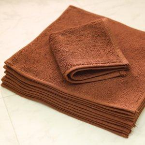 レピア織スレン染ミニおしぼり(20x20)ダークブラウン